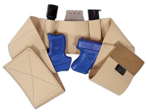 Core-Defender Belly Band Holster holds 2 guns plus magazines