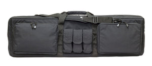 Double Rifle Case in black color, exterior image