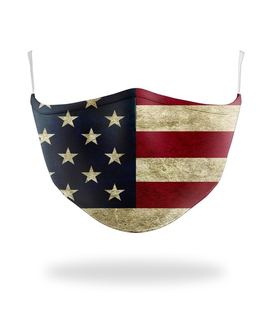 American Flag Defender Fabric Face Mask