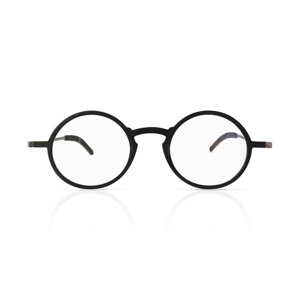 kreuzberg duo | 2 pairs of super-light round black reading glasses with slim case