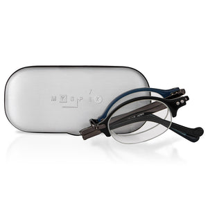 MySpex 102 |  Luxury Japanese Design Folding Reading Glasses with Metal Travel Case - available in 2 colours
