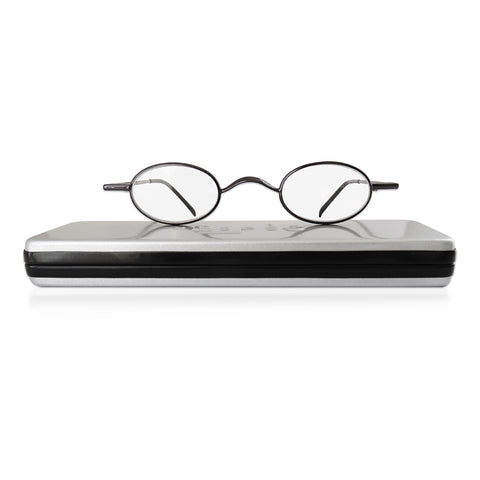 MySpex 114 | finely crafted reading glasses with slimline metal case