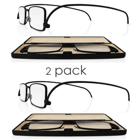 eye-level duo (2pairs) | modern slim fold reading glasses with ultra thin case