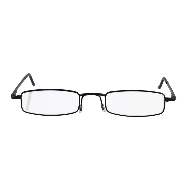 eye-line | slim reading glasses with black metal tube case