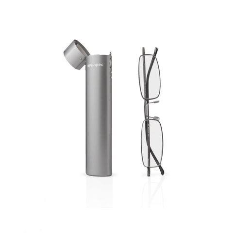 eye-line | slimline reading glasses with graphite metal tube case