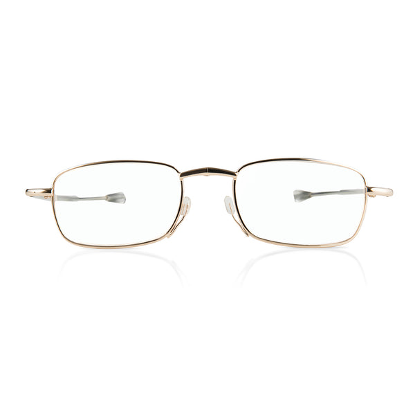 eye-look | ultra light gold foldable spectacles with smart metal case