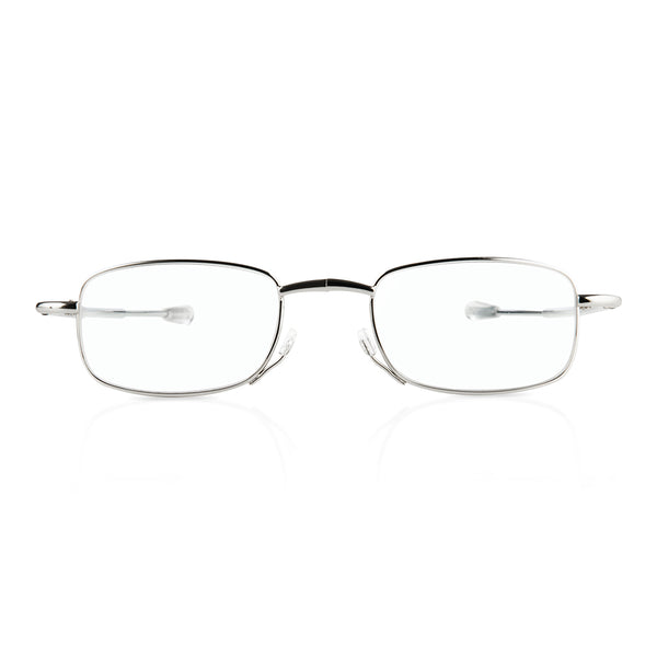 eye-look |  lightweight silver frame spectacles with smart metal case