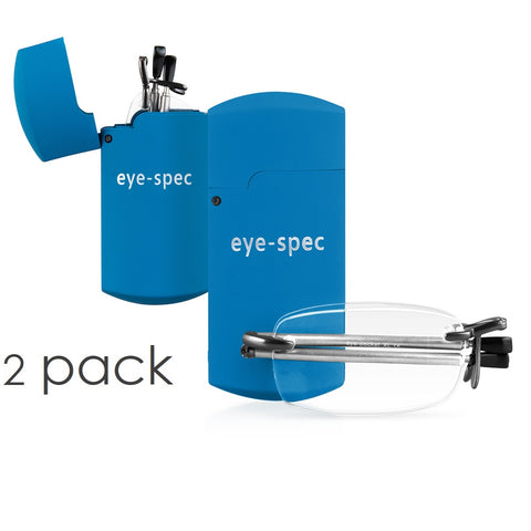 eye-pocket XL duo (2 pairs) |  rimless folding glasses with compact spectacle case