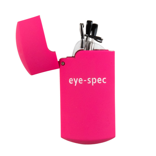 eye-pocket XL | rimless folding glasses with pink mini case