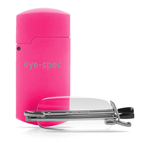 eye-pocket | folding reading glasses with pink mini case