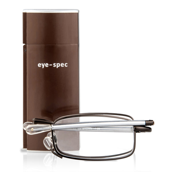 eye-see | folding reading glasses in stylish brown finish
