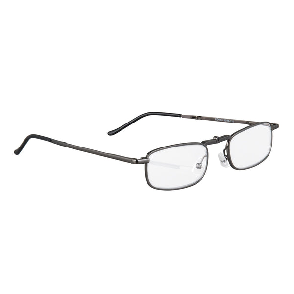 eye-sight | flat folding reading glasses with slimline graphite case