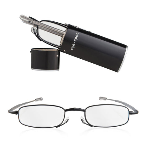 eye-spy | compact folding reading glasses with nifty black case