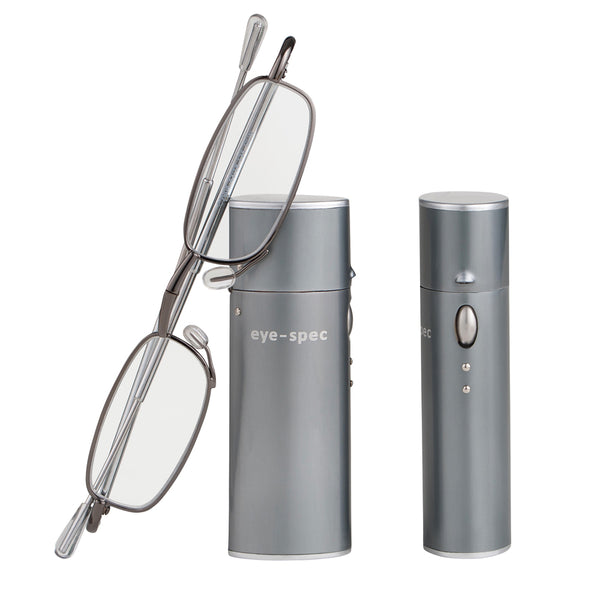 eye-spy | compact folding reading glasses with nifty graphite case