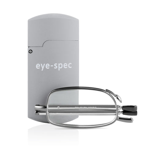 eye-tech | smart folding reading glasses with compact grey case