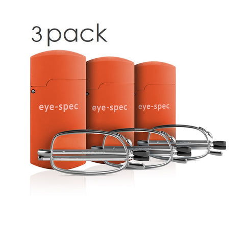 eye-tech trio (3 pairs) | handy folding glasses for the office, car and your pocket