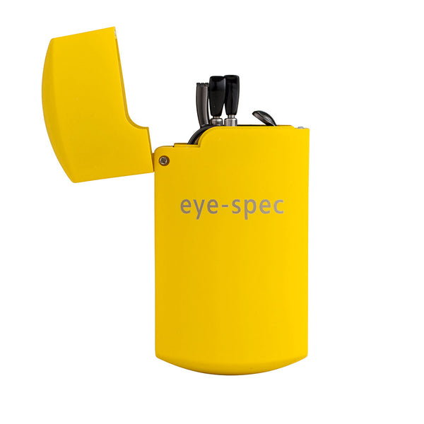 eye-tech | smart folding reading glasses with compact yellow case