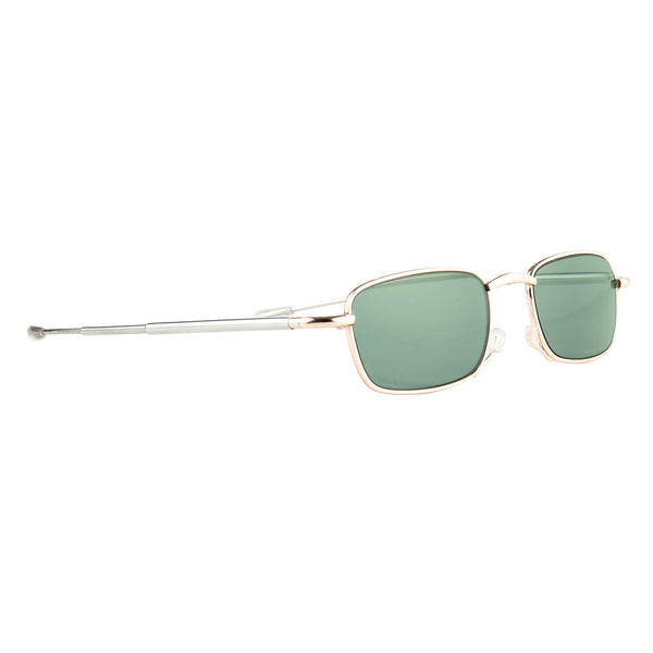 gaudi | luxury folding sunglasses with classic retro green lenses