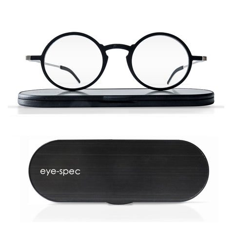 kreuzberg | fashionable super-light round reading glasses with ultra slim case