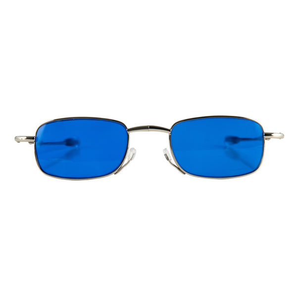 rogers | luxury folding sunglasses with cool blue lenses