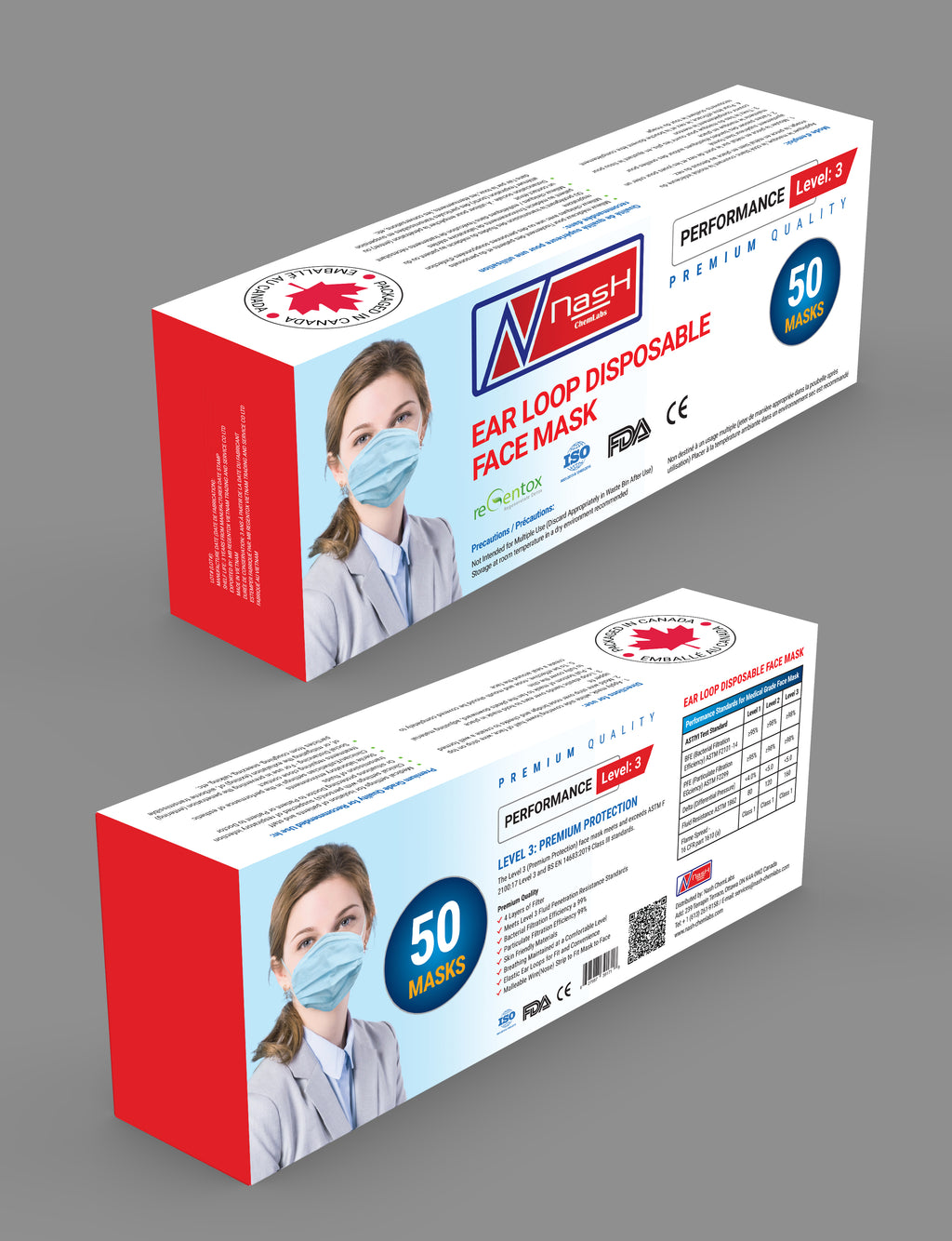 Surgical Medical Mask (4 Ply / 4 Layer) - 20 pcs/box