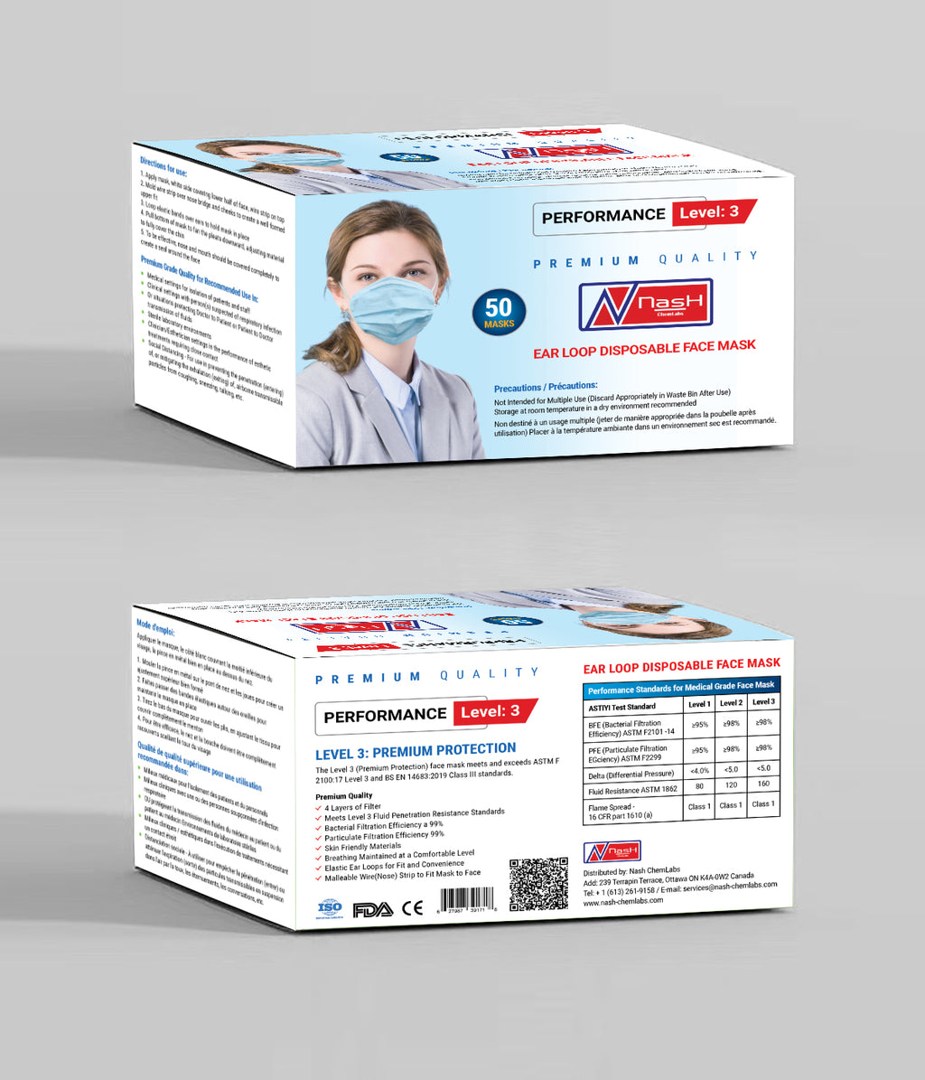Surgical Medical Mask (4 Ply / 4 Layer) - 50 pcs/box
