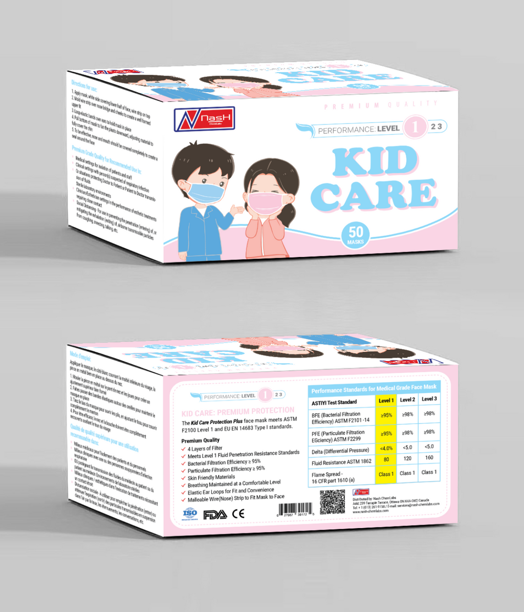Kids Disposable Protective Mask (50 Pieces)