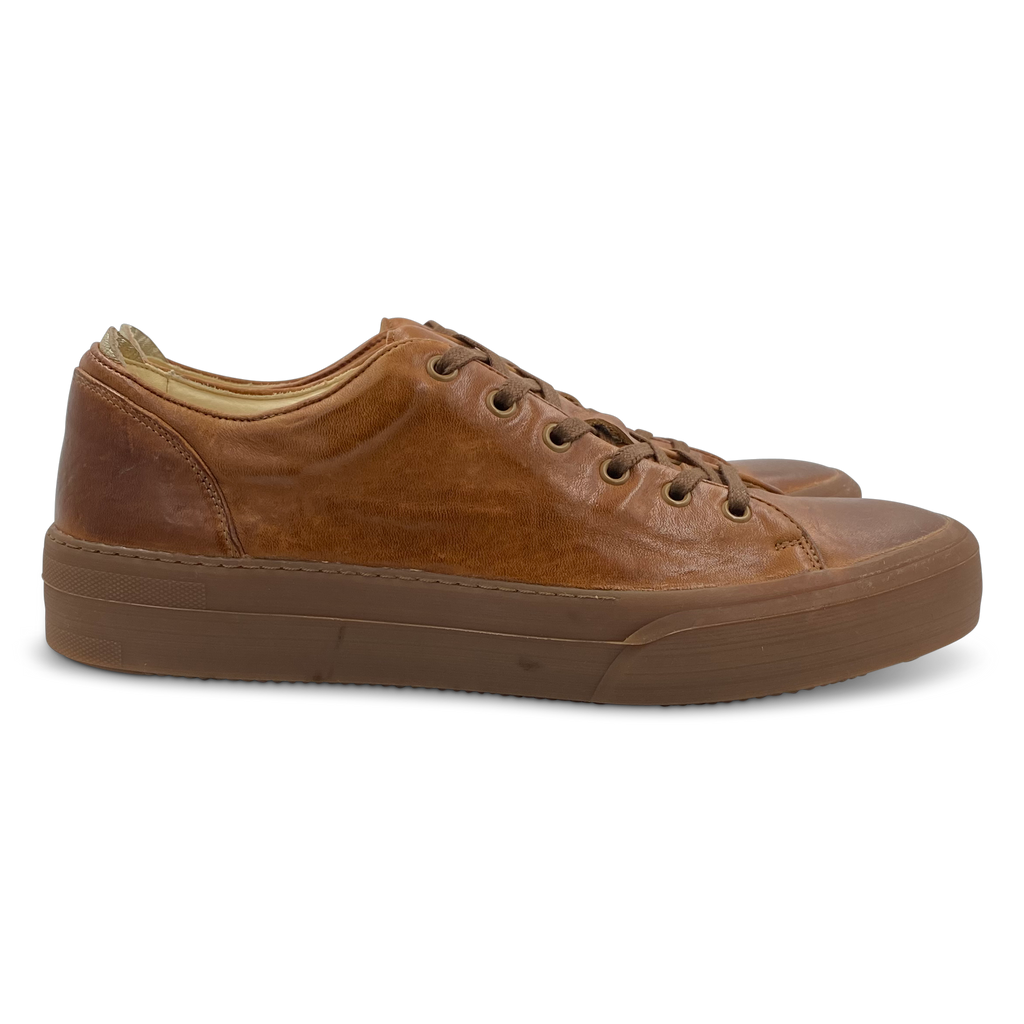 Conscious Washed Sneaker in Tan