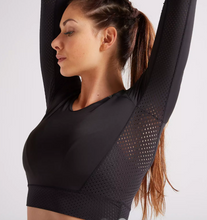 Load image into Gallery viewer, CROP TOP FOR FITNESS AND CARDIO TRAINING WOMEN'S FJA 900 DOMYOS