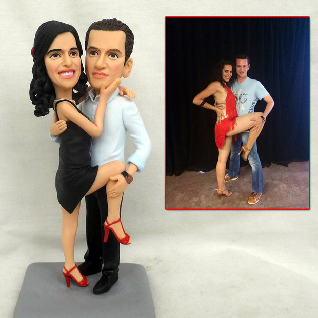 Couple salsa seducing dance Bobble Head Figurine