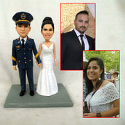 Police Couple Marriage Bobble Head Figurine