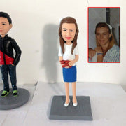 One person bobble head figurine