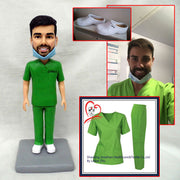 Customize Male Nurse bobble head figurine