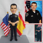 Police Officer Customize bobble head figurine