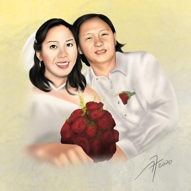 Couple Realistic Art, Custom Art Specially Made Romantic Gift
