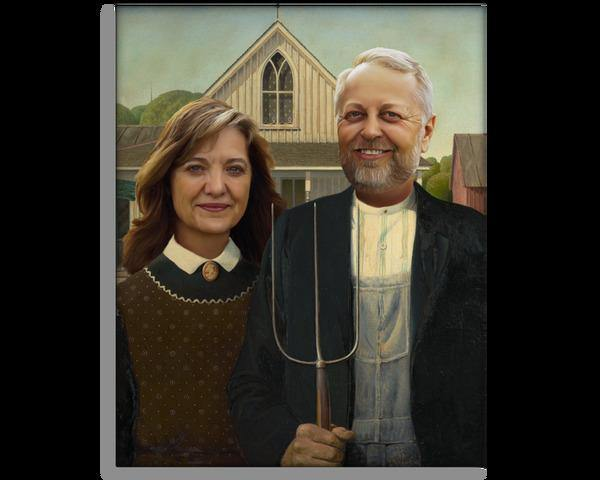 The American Gothic - Custom Pitchfork Portrait