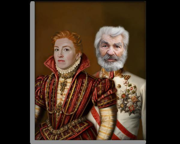 The Elderly - Custom Couple Portrait