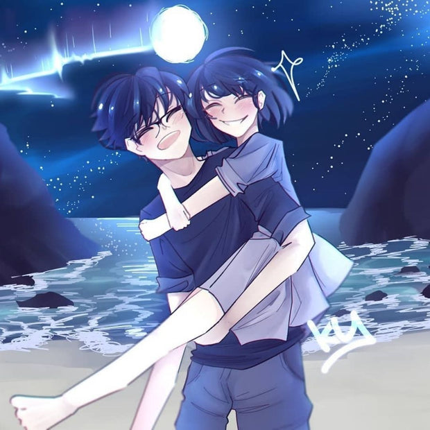 Couple Artwork Illustration in Anime