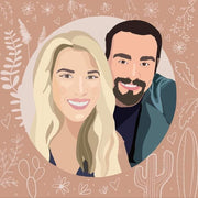 Creative Couple Vector Art Style For Friends, Valentine, Anniversary Day