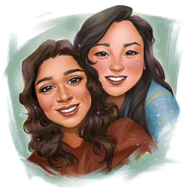 LGBT Couple Portrait Artwork, Our Artist will create a lovely art couple portrait in vector style for your anniversary gift