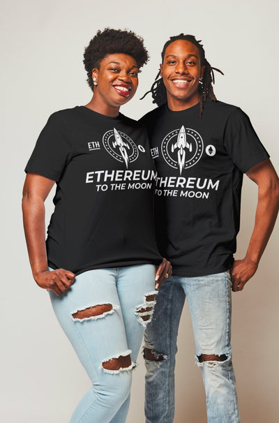 Ethereum ETH Crypto Tee Shirt T-Shirt Cryptocurrency Block Chain Gift Hodl Shirt, Hodl Gift, Crypto Shirt, Crypto Gift, To the moon