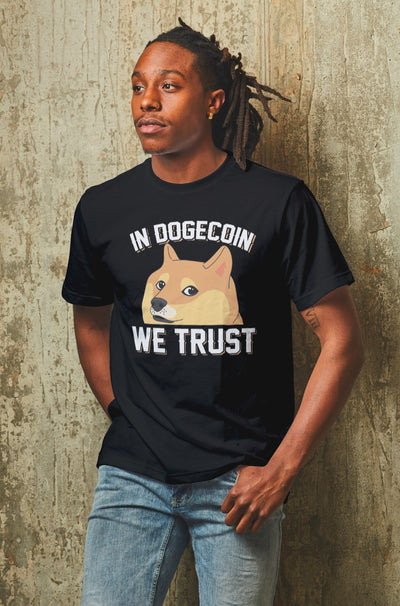 Doge Coin Dogecoin Crypto Tee Shirt T-Shirt Cryptocurrency Block Chain Gift