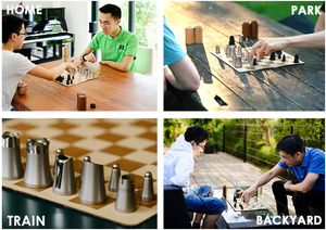 Chess: Compact, portable nesting chess set(BUY2 FREE SHIPPING)
