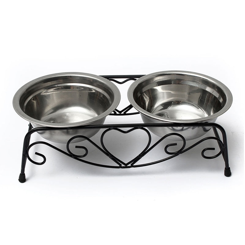 Love My Doggy Elevated Double Dog Bowl