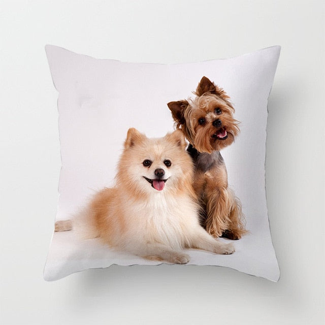 Love My Doggy Yorkshire Terrier Print Cushion Cover