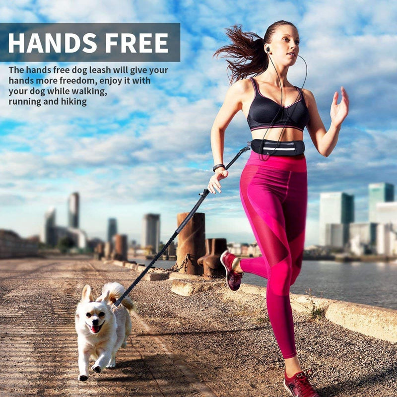 Love My Doggy Hands Free Dog Running Lead with Waist Pocket