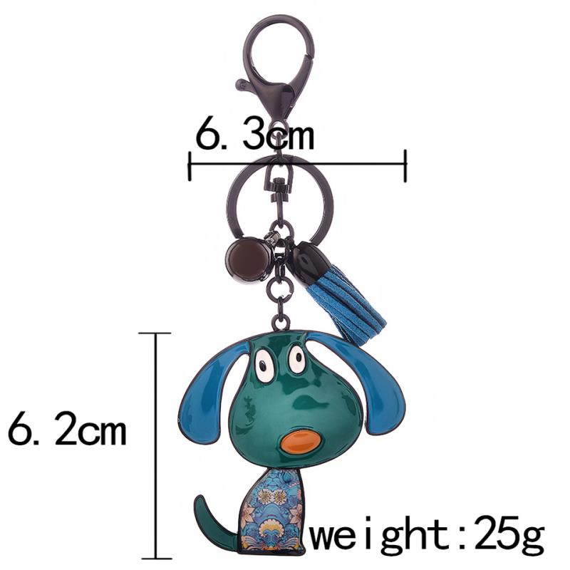 Love My Doggy Cute Cartoon Key Ring