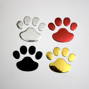 Love My Doggy 3D Paw Print Car Sticker (2 pk)