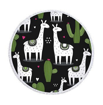 Love My Doggy Large Circular Beach Towel (Many Designs Available)