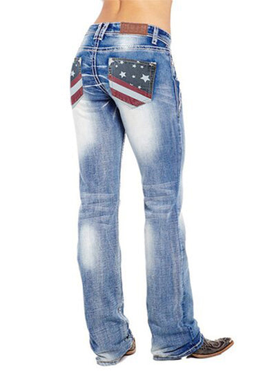 Sky Blue Woman Jean Flag Daily Jean LC78798-4